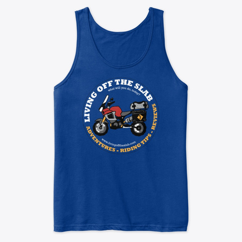 Living Off The Slab Logo Apparel True Royal T-Shirt Front