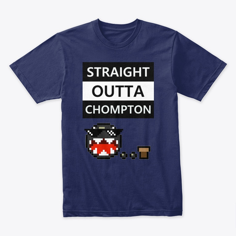 Straight Outta Chompton Midnight Navy T-Shirt Front