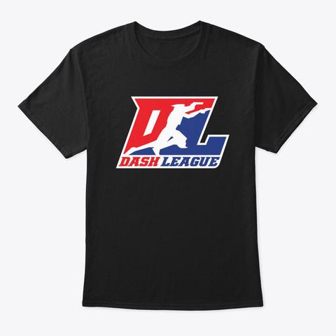 Dltv   Dash League Logo Black T-Shirt Front