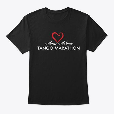 Ann Arbor Tango Marathon (Dark T Shirt) Black T-Shirt Front