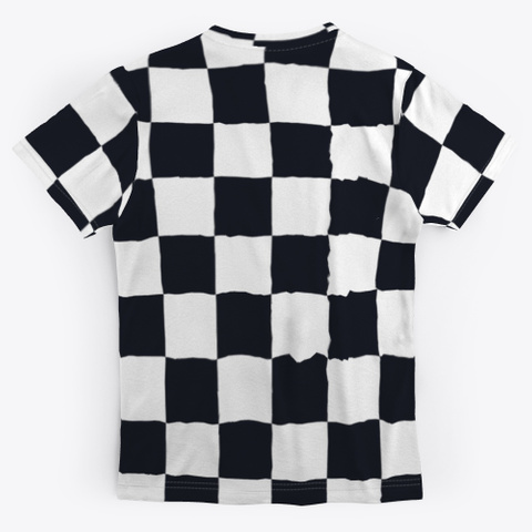Black White Checker Board Check Pattern Standard T-Shirt Back
