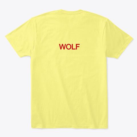 Wolf Egypt Lemon Yellow  T-Shirt Back