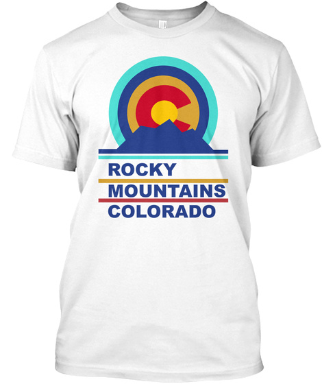 Rocky Mountains Tee White T-Shirt Front