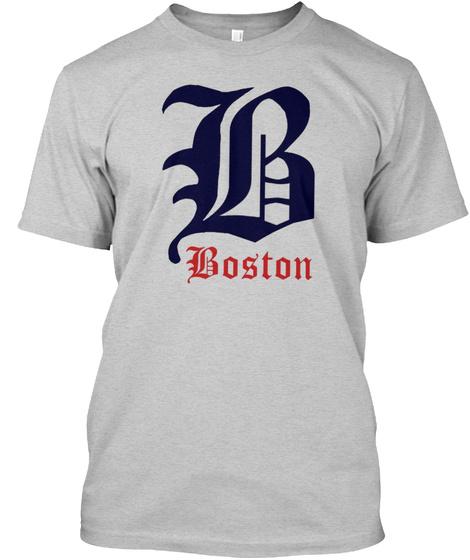 Boston Pride Light Steel T-Shirt Front