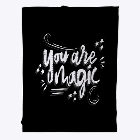 Fleece Blanket: Magic Black T-Shirt Front