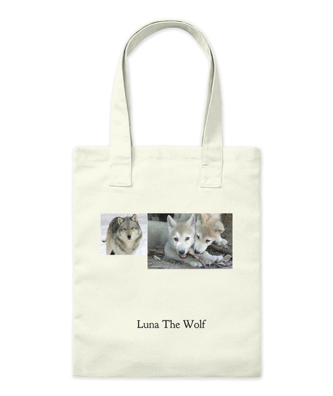 Luna The Wolf Natural T-Shirt Front