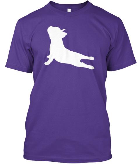 French Bulldog Yoga T Shirt Purple T-Shirt Front