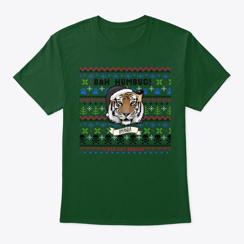 Not So Ugly Amanda Tiger Christmas Deep Forest áo T-Shirt Front