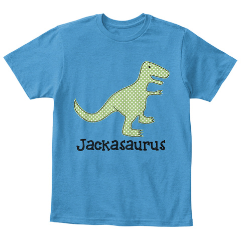 Jackasaurus Kids T Shirt Heathered Bright Turquoise  T-Shirt Front