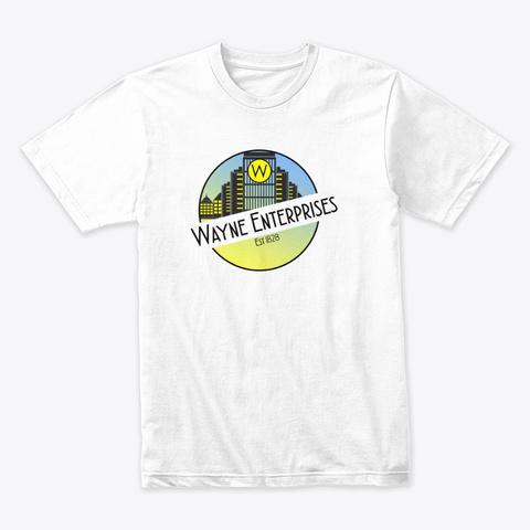 Wayne Ent White T-Shirt Front