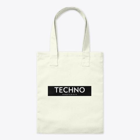 Charlotte De Witte Acid Techno Simple Bl Natural T-Shirt Front