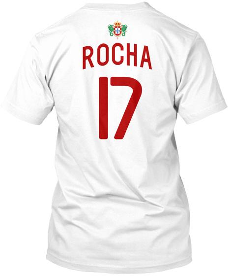 Rocha 17 White T-Shirt Back