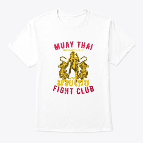 Muay Thai Fighter Funny Evolution Mma Gi White T-Shirt Front