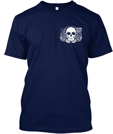Armed Citizens Of Alabama! Navy T-Shirt Front