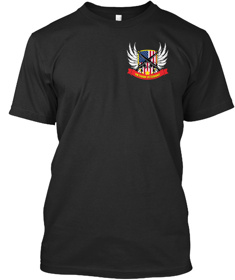 Vietnam Veterans Black T-Shirt Front