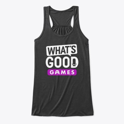 What's Good Games Gear (Multiple Styles) Dark Grey Heather T-Shirt Front