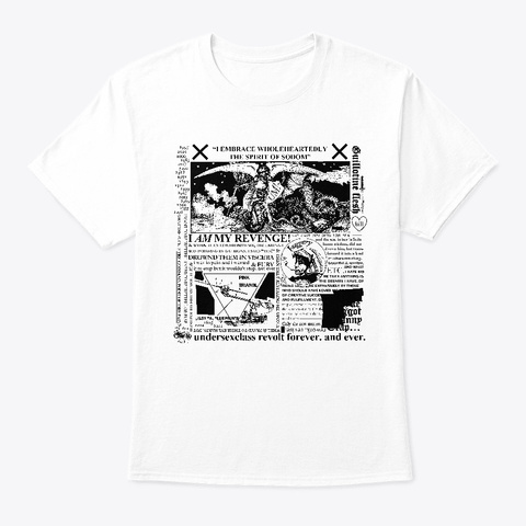 Spirit Of Sodom Inverted White T-Shirt Front