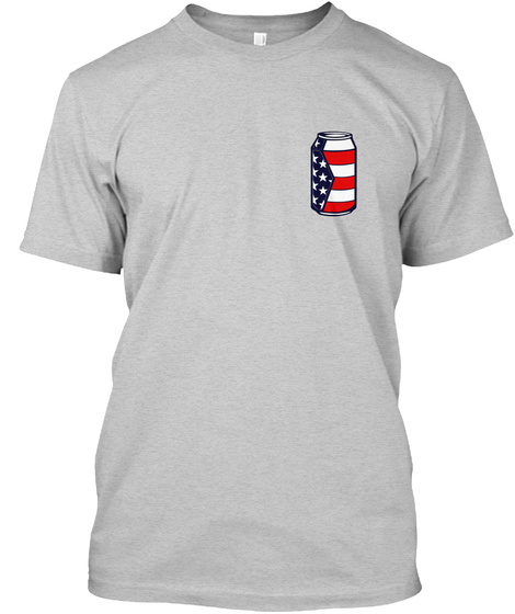 Red White And Brew Light Steel T-Shirt Front