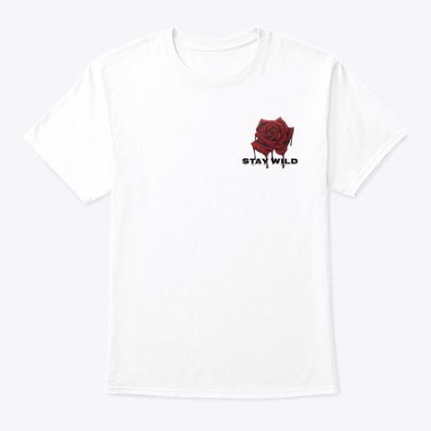 K Ierra Khan White Camiseta Front