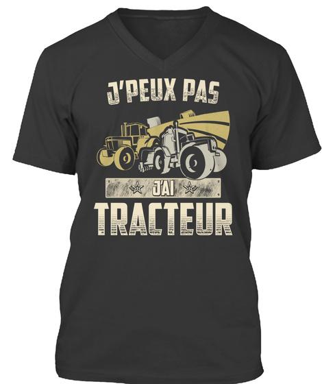 'j. Peux Pas Jai Tracteur Black T-Shirt Front