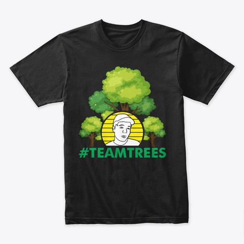#Team Trees Black T-Shirt Front