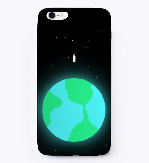 Rocket Design Phone Cases Black T-Shirt Front