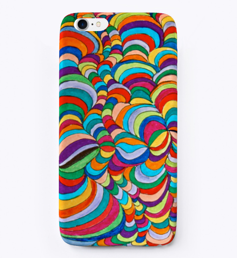 Colorful Doodle Iphone  Case Standard T-Shirt Front