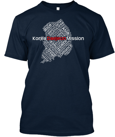 Korea Daejeon Mission Rice Called To Serve South Korea Asia Kimchi Galbi Korean Omurice Rice Tofu Baseball Asia Seafood New Navy T-Shirt Front