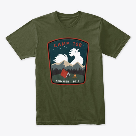 Camp To B 2019 Military Green T-Shirt Front