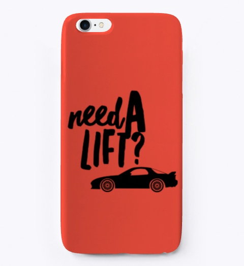 Need A Lift? Phone Case For Drivers Red T-Shirt Front