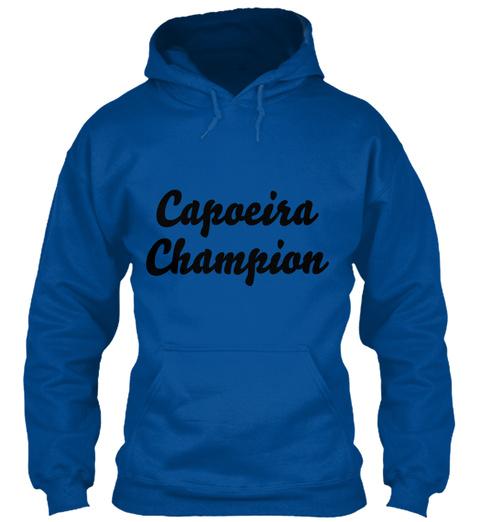 Capoeira Champion T Shirt Royal T-Shirt Front