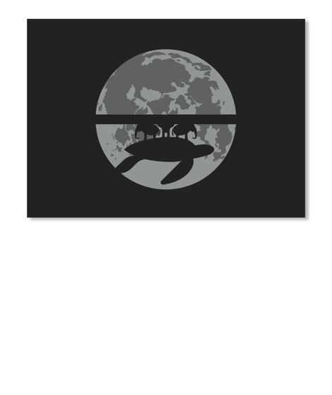 Flat Earth Eclipse 1 Sticker [Int] #Sfsf Black Sticker Front