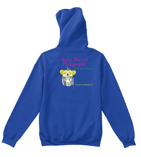 Stacey Percival Photography Kids Hoodie  Royal T-Shirt Back