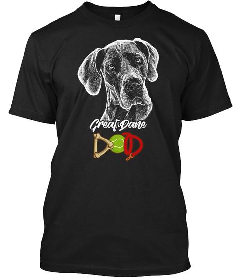 Great Dane Dod Black T-Shirt Front