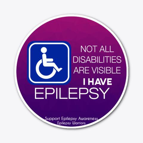 Epilepsy Disability Sticker Standard T-Shirt Front