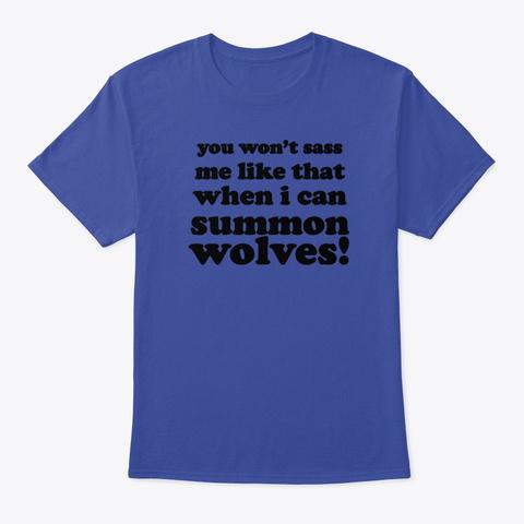 Summon Wolves Deep Royal T-Shirt Front