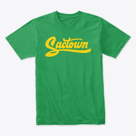 Sactown   Moneyball Gold Kelly Green T-Shirt Front