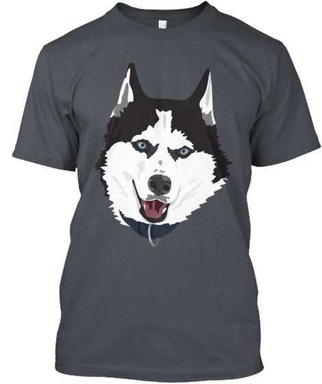Siberian Husky T Shirt Heavy Metal T-Shirt Front