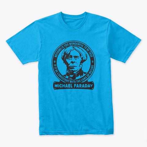 Cisco Ramon  Tshirt  Michael Faraday Turquoise T-Shirt Front