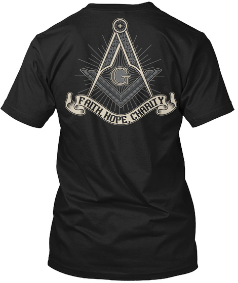 Faith, Hope, Charity Black T-Shirt Back