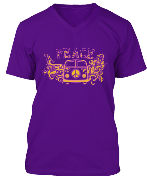 Peace  Team Purple T-Shirt Front