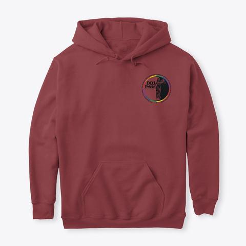 Doj Pride Merchandise Burgundy Sweatshirt Front