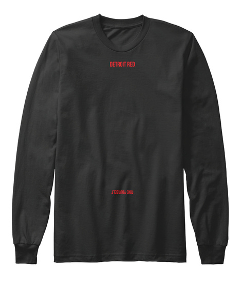 Detroit Red Find Yourself Black Long Sleeve T-Shirt Front
