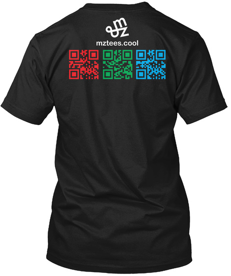 Rgb Qr Code (W/ Components) Black T-Shirt Back