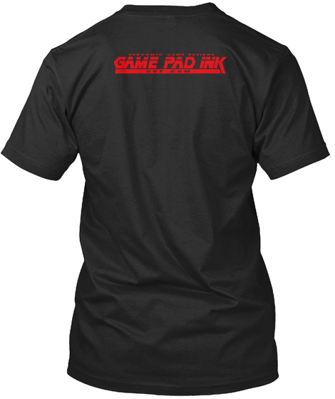 Webcomic Game Reviews  Game Pad Ink Dot Com Vintage Black T-Shirt Back
