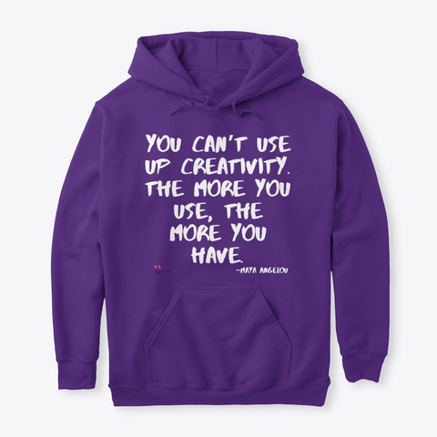 You Can't Use Up Creativity Purple T-Shirt Front