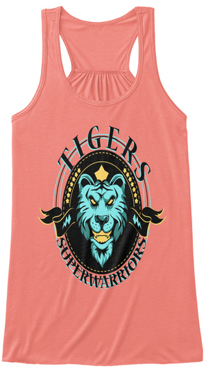 Tiger The Super Warrior Shirt Coral T-Shirt Front