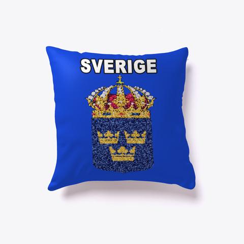 Artistic Sverige Sweden Crest P Illow Royal Blue T-Shirt Front
