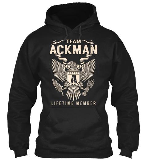 Team Ackman Lifetime Member Black T-Shirt Front