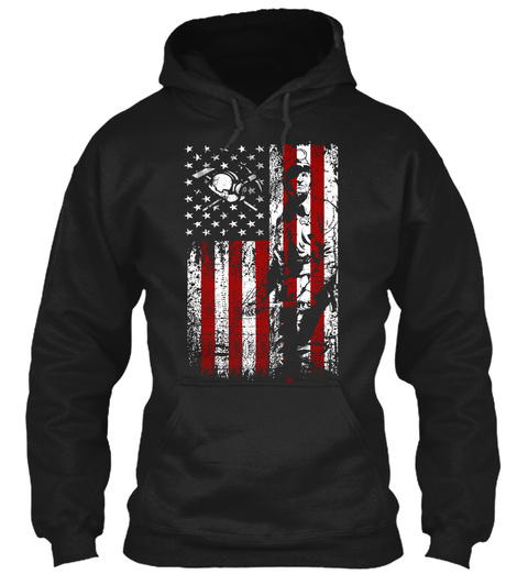 American Miner Apparel Black T-Shirt Front
